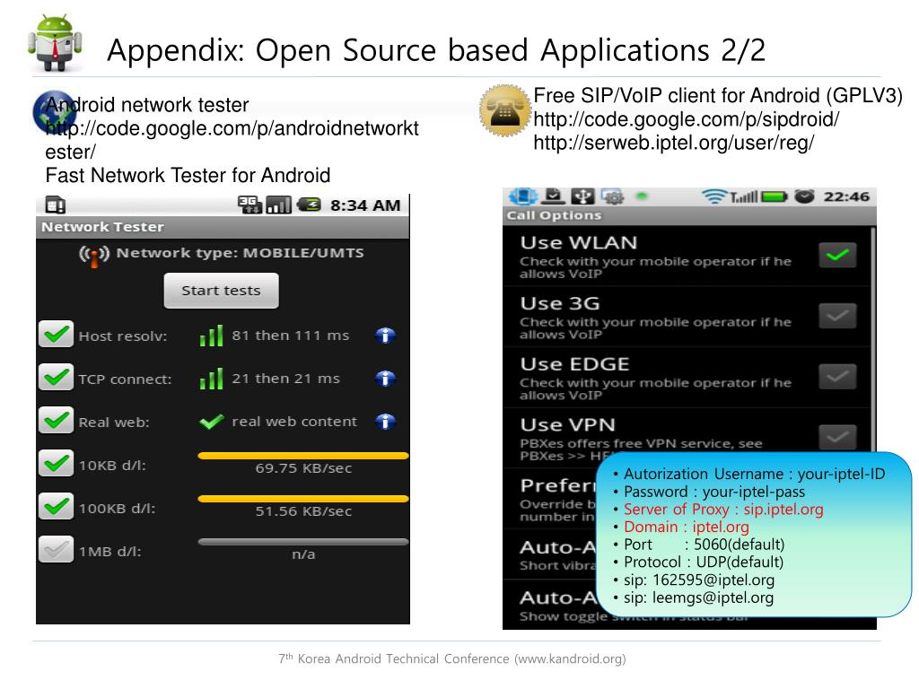 PPT - Android Network Stack and Enhancement (3G/ WiFi , IPV4