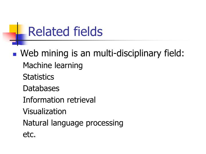 Related fields