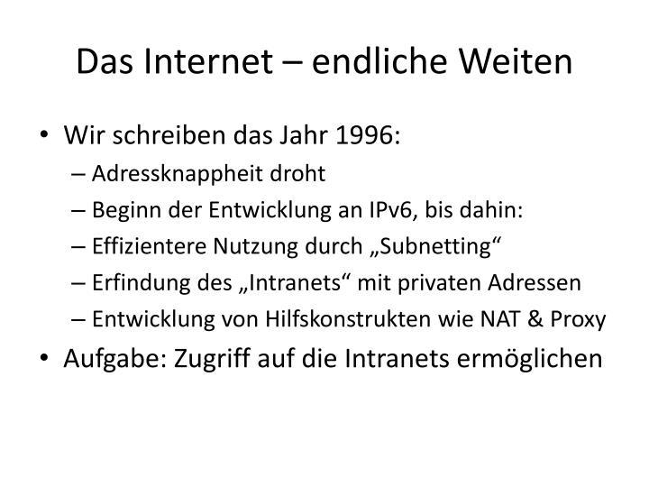 Das internet endliche weiten