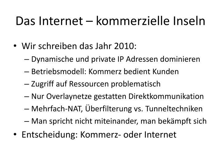 Das Internet – kommerzielle Inseln