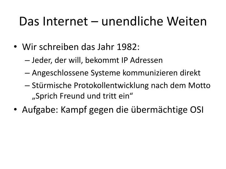 Das internet u nendliche weiten