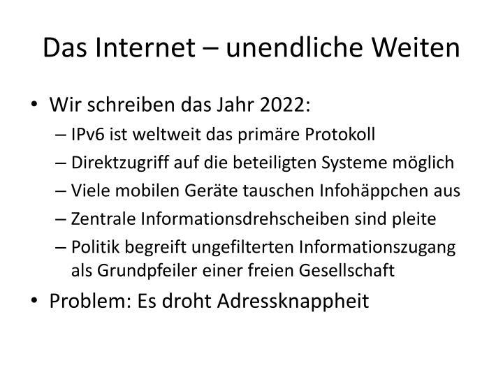 Das Internet – unendliche Weiten