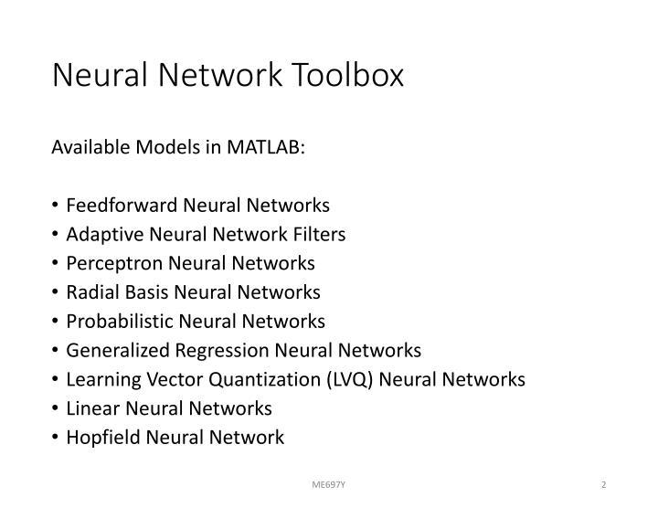 Neural network toolbox