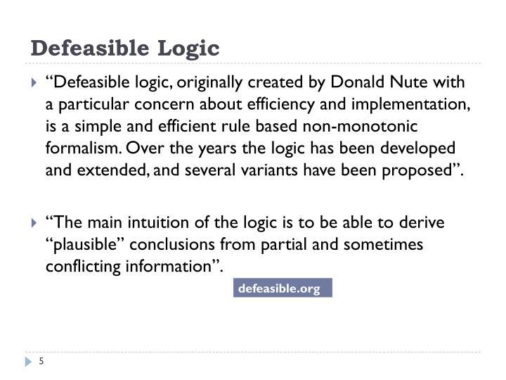 Defeasible Logic