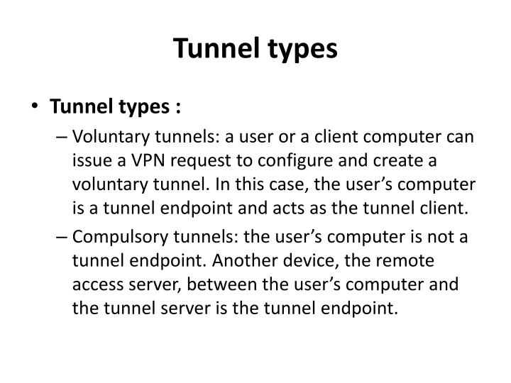 Tunnel types