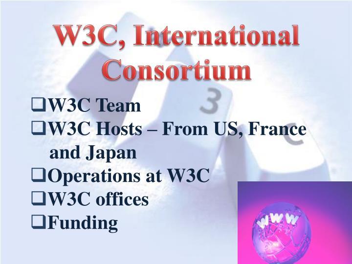 W3C, International