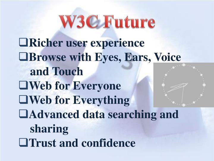 W3C Future