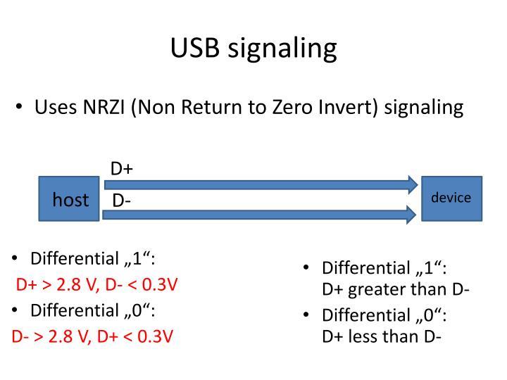 USB signaling