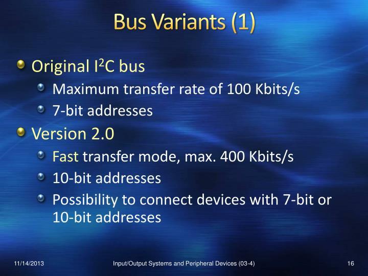 Bus Variants (