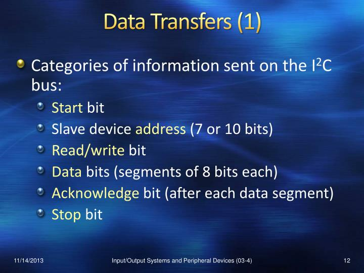 Data Transfers (1)
