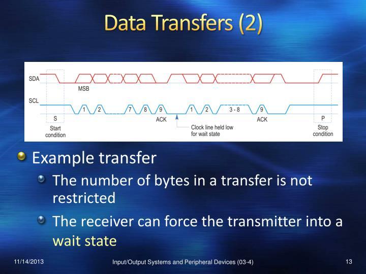 Data Transfers (2)