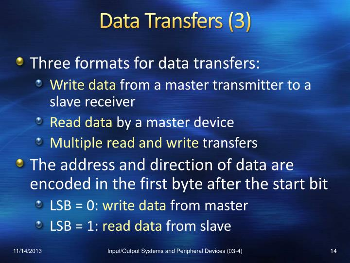 Data Transfers (3)