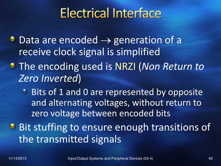 Electrical Interface