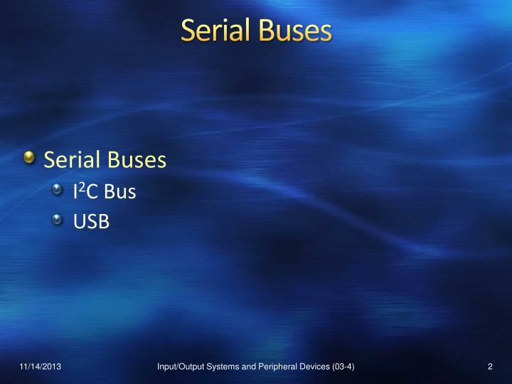 Serial buses