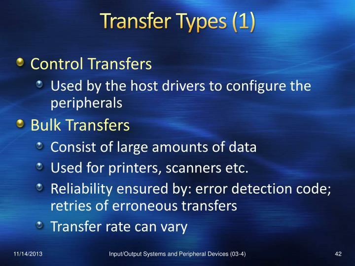 Transfer Types (1)