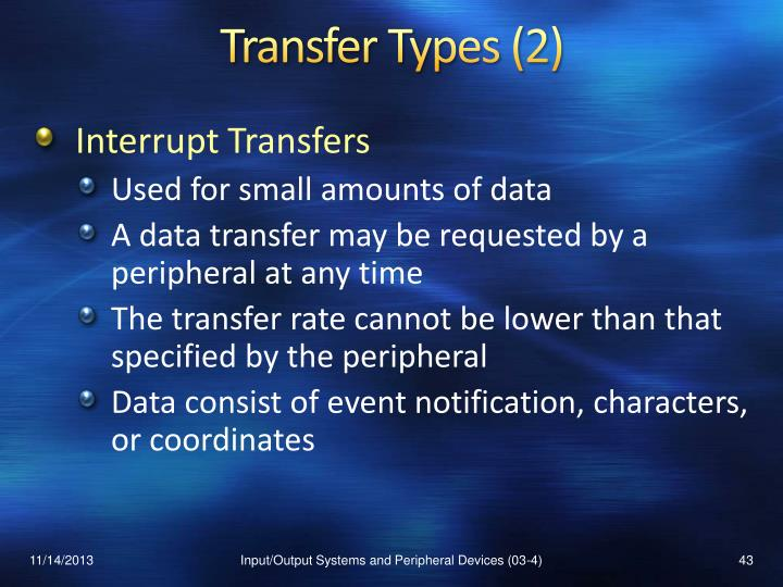 Transfer Types (2)