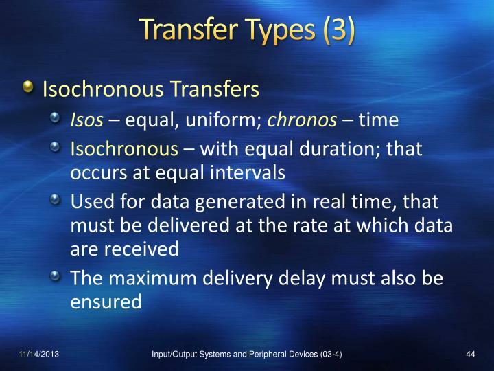 Transfer Types (3)