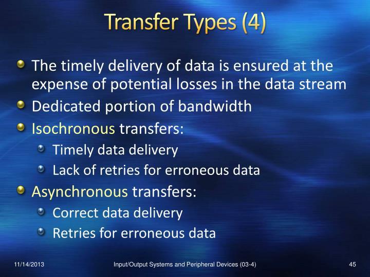 Transfer Types (4)