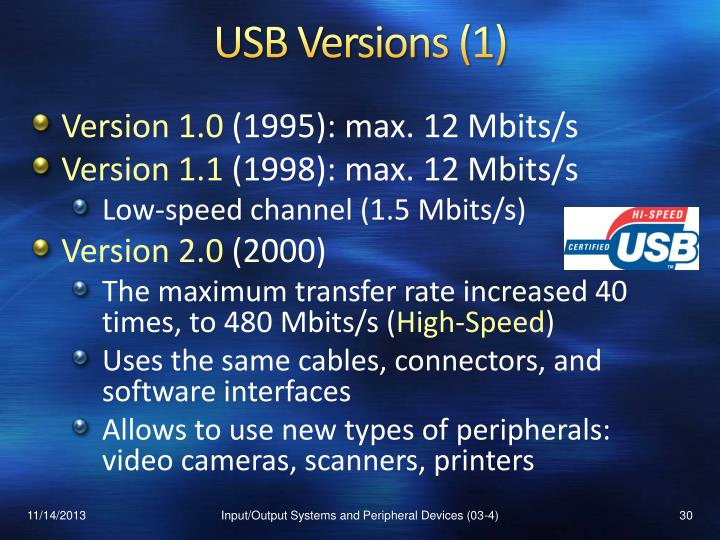 USB Versions (1)