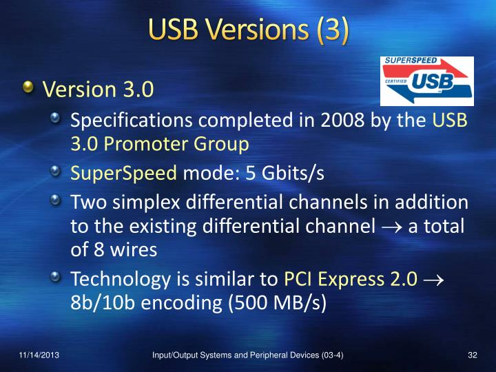 USB Versions (3)