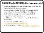 bourne again shell bash commands