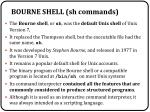 bourne shell sh commands