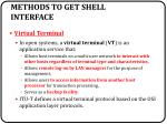 methods to get shell interface2