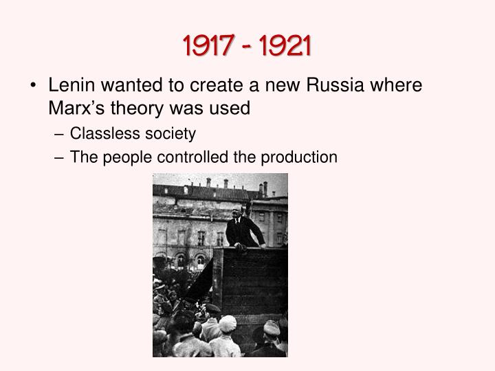 1917 - 1921