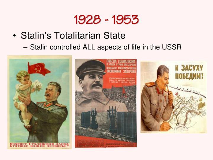1928 - 1953