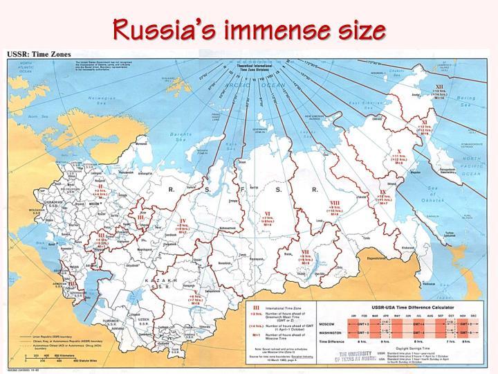 Russia s immense size