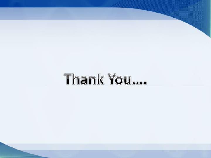 Thank You….