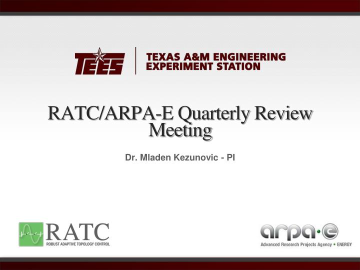 ratc arpa e quarterly review meeting n.