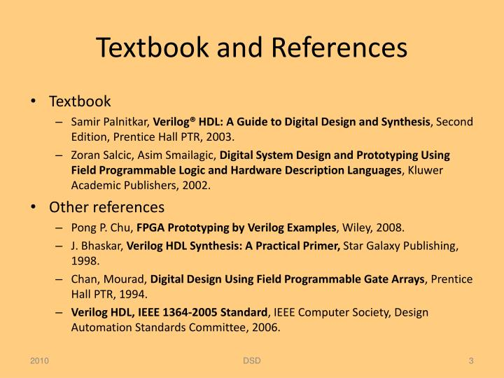 Textbook and references