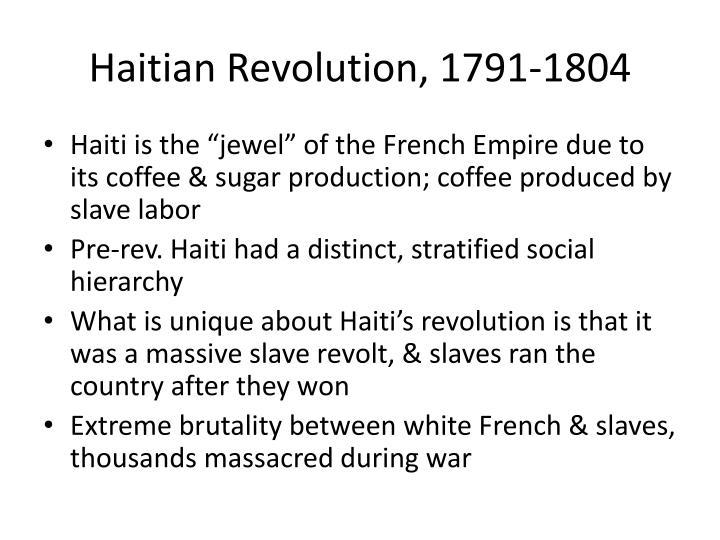 Haitian Revolution, 1791-1804