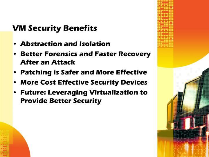 VM Security Benefits