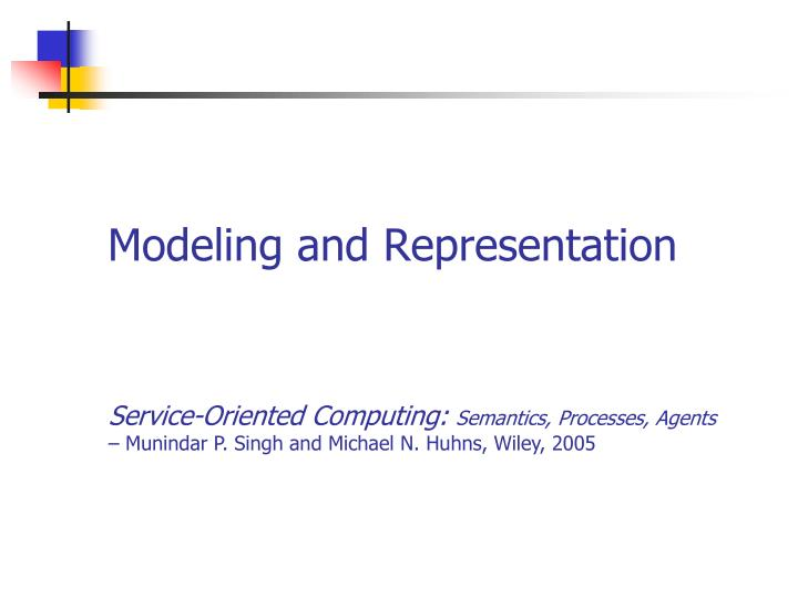 modeling and representation n.