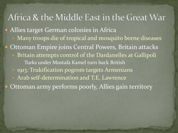 Africa & the Middle East in the Great War