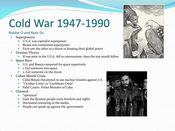 Cold War 1947-1990