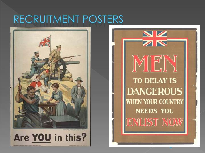 Recruitment posters