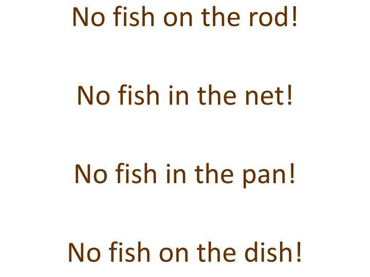 No fish on the rod!