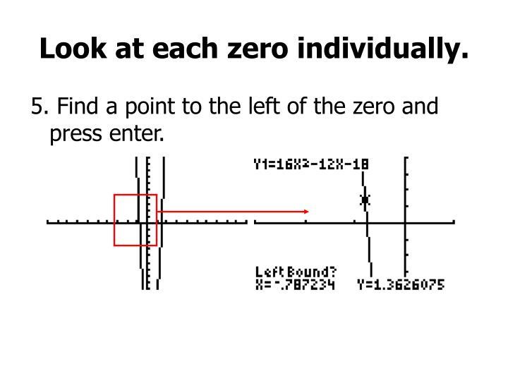 Look at each zero individually.