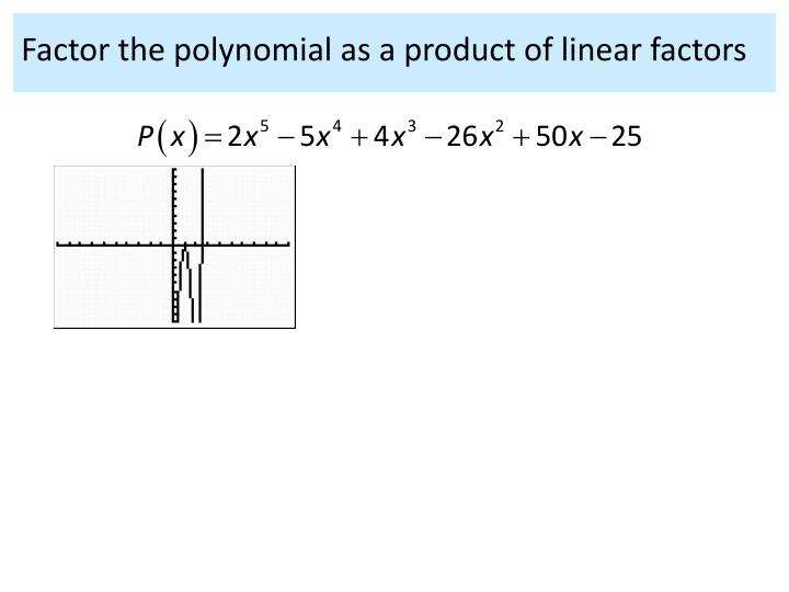 Factor the polynomial as a product of linear factors