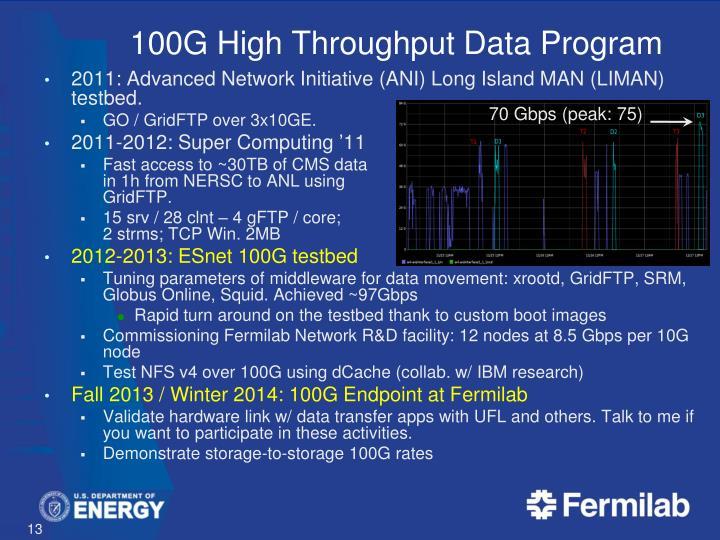 100G High Throughput Data Program
