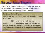 the linear factor theorem