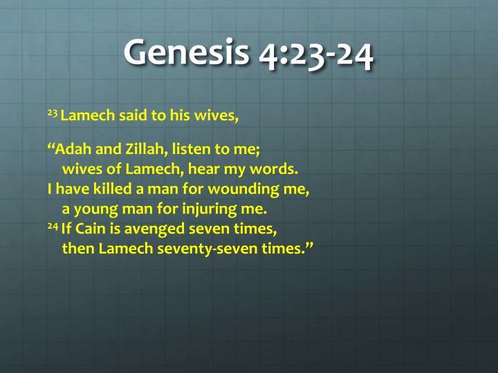Genesis 4:23-24