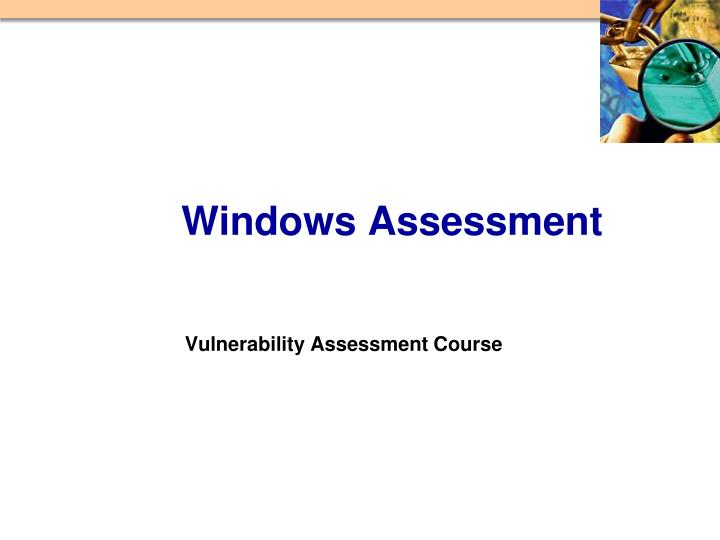 vulnerability assessment course n.