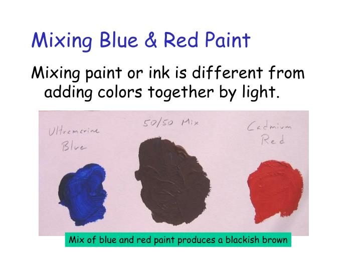 Mixing Blue & Red Paint