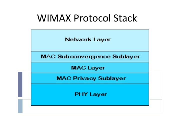 WIMAX Protocol Stack