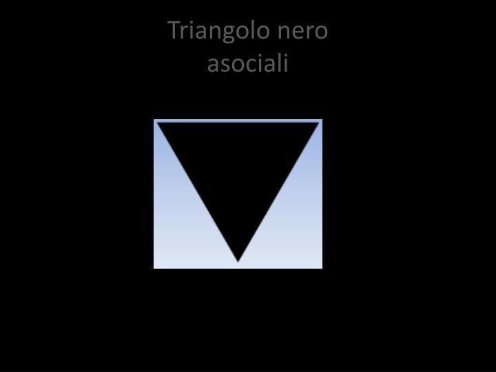 Triangolo nero