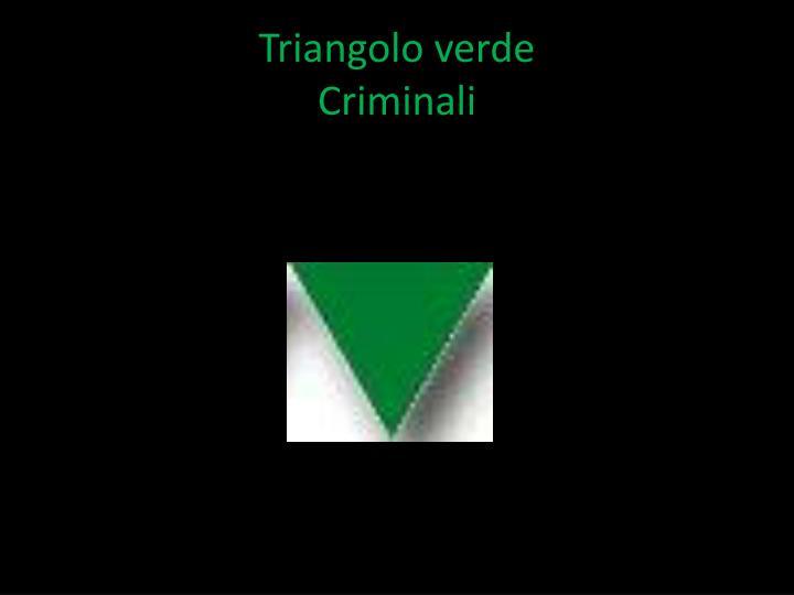 Triangolo verde